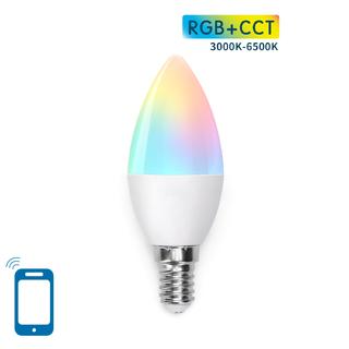 LED BULB C37 E14 5W WIFI RGB+CCT